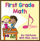 Common Core 1st Grade Math Downloadable Songs and Book + F