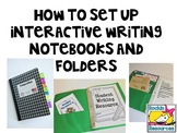 How to Set Up Interactive Writing Notebooks and Folders