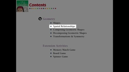 Geometry: Spatial Relationships - Practice the Skill 3 - PC Gr. PK-2