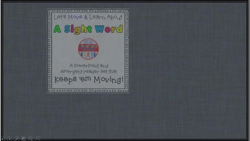 Sight Word Activity - PowerPoint and Emergent Reader for the sight word CAN