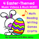 4 Easter Themed Videos + 110 Pages of Math, Reading, Writi
