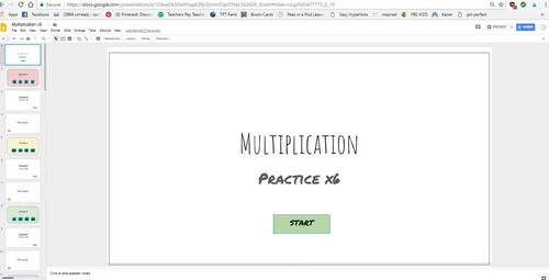 Multiplication Interactive Game (x 4)  Power Point and Google Slides Versions