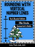 Rounding with Vertical Number Lines Freebie