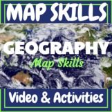 Geography Map Skills: Continents Oceans and More! Video &