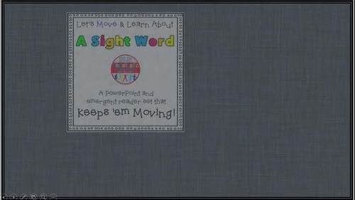 Sight Word Activity - PowerPoint and Emergent Reader for the sight word INTO