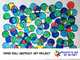 Paper Roll Abstract Art Project