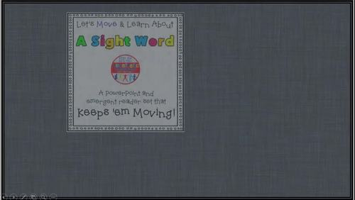 Sight Word Activity - PowerPoint and Emergent Reader for the sight word SEE