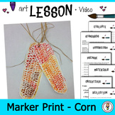 Elementary Art Lesson Plan. Marker Print Video demonstrati