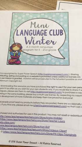 Mini Language Club Winter