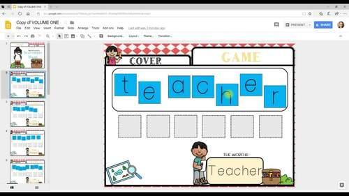 Making Words Digital Activities   Back To School Vol.1