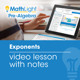 Exponents Video Lesson with Student Notes