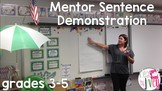 Mentor Sentences Demonstration (grades 3-5) with Enemy Pie