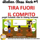 Italian Transition Video Take Out Homework  for CI TCI TPR