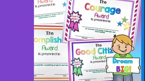 Character Education Awards / End of the Year Awards