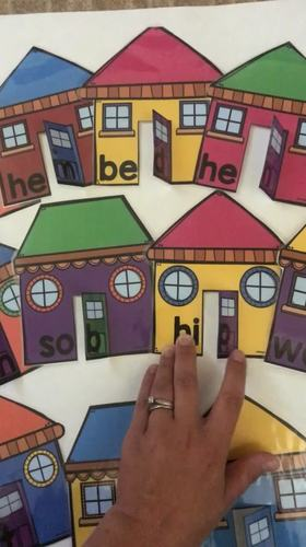 Open and Closed Syllable Review Houses in COLOR