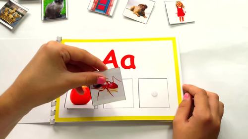 Alphabet Book, Alphabet Matching Activity for Speech Therapy
