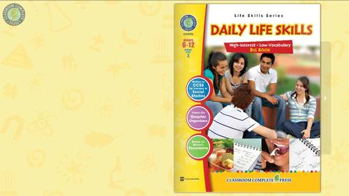 Daily Life Skills - BIG BOOK Gr. 6-12