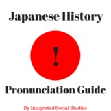 Japanese History Pronunciation Guide