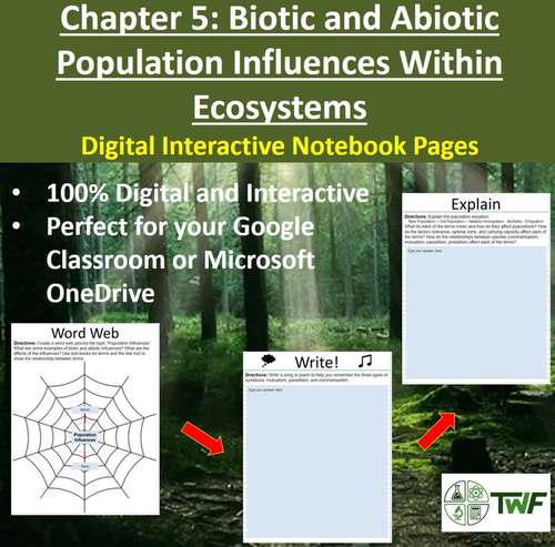 Population Influences Within Ecosystems - Digital Interactive Notebook Pages