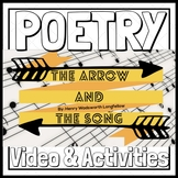 """Spring Poetry Month """"The Arrow and the Song"""" Video & Activities"""