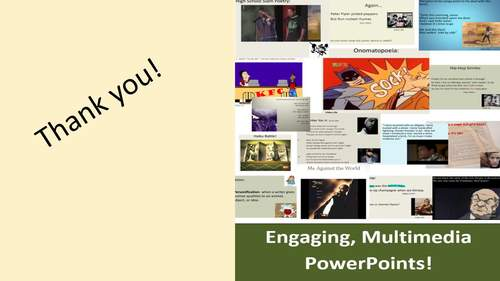 Middle School Poetry Unit, 4 Weeks of Engaging PowerPoints and Activities