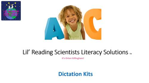 Dictation Kit - (Beginning - Short Vowels) (OG)