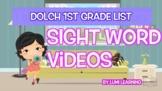 Dolch 1st Grade Sight Word Videos (all 41): Teach Spelling