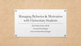 How to Approach Behavioral Regulation & Motivation