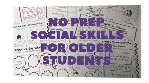 No Prep Social Skills for Older Students