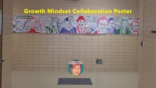 Famous Faces™ Growth Mindset Collaborative Poster BUNDLE [incl Vol 1 & Vol 2]