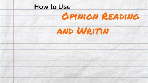 Opinion Writing and Opinion Reading - Should Students Wear Uniforms?