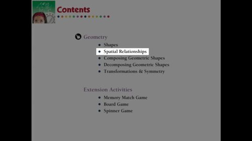 Geometry: Spatial Relationships - Practice the Skill 1 - MAC Gr. PK-2