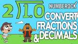 Converting Fractions to Decimals Math Song ♫♪ Conversions