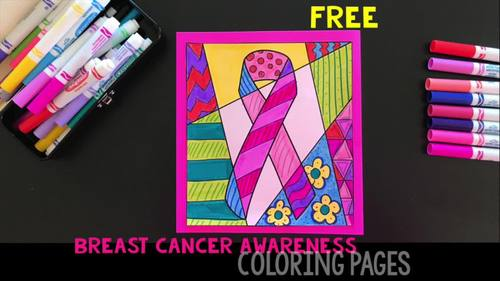 Breast Cancer Awareness Ribbon Coloring Sheet Play