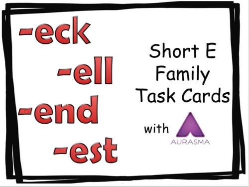 Augmented Reality Phonics Task Cards Using Aurasma - Short Vowel E Family