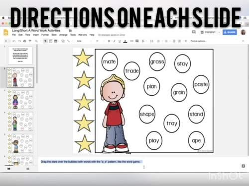 Long and Short I Word Work: DIGITAL