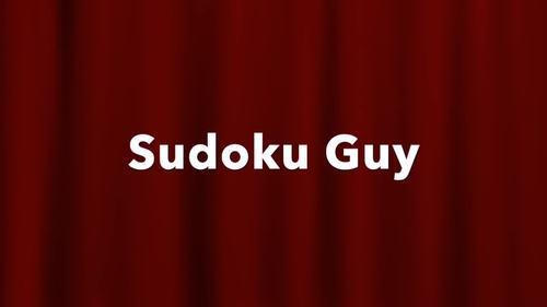 Fun with Sudoku Guy  (K-gr3, LESSON 6: Horizontal blocks and vertical blocks.