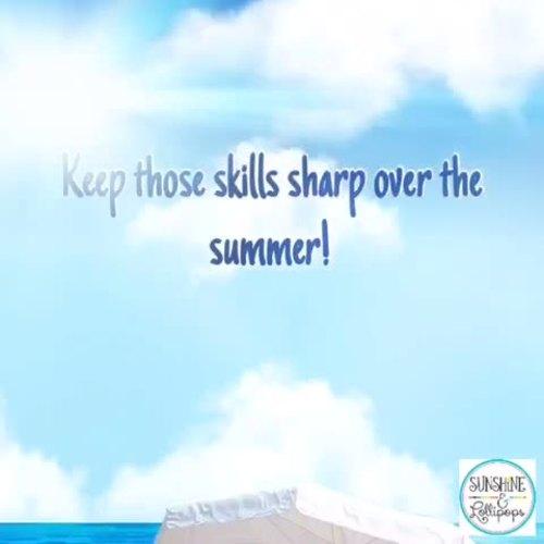 Summer Calendar Activity a Day for First Grade