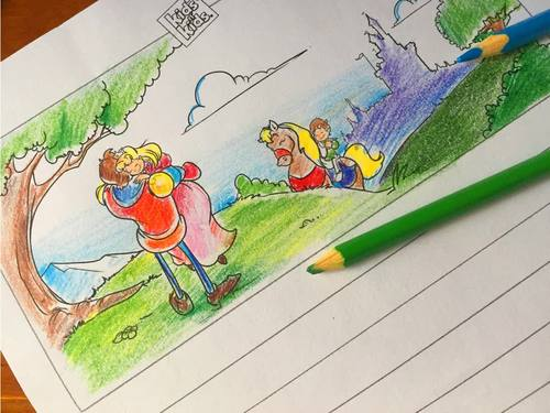 Kids N Kids writing workshop-Story templates with illustrations
