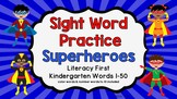 Sight Word Video & Slideshow, Kindergarten 50 Words, Liter