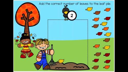 Fall Counting & Numbers to 20 Digital Boom Cards (K.CC.B.4, K.CC.B.5)