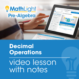 Decimal Operations Video Lesson with Student Notes