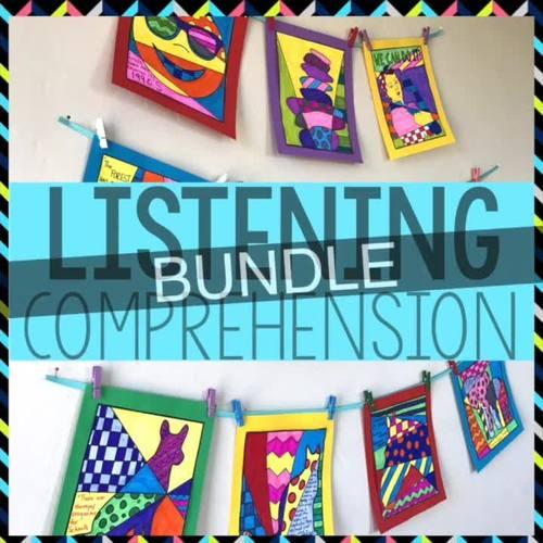 Listening Comprehension BUNDLE: Animals, Biomes, Social-Emotional Learning