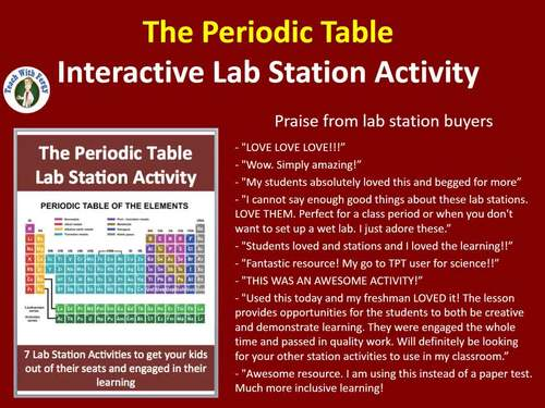 The periodic table 7 engaging lab station activities by teach with the periodic table 7 engaging lab station activities play urtaz Choice Image