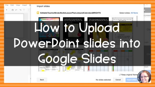 how to upload powerpoint slides to google slides by first grade