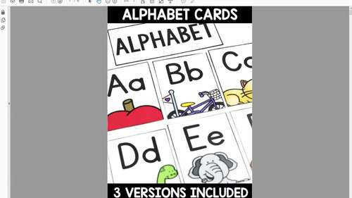 Alphabet Skill Focus Cards