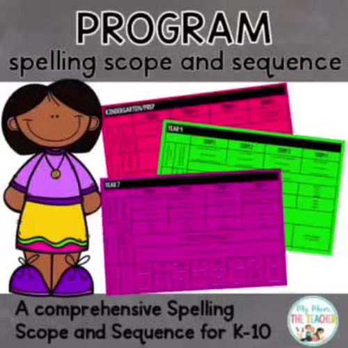 Spelling Scope and Sequence: K-10
