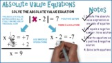 Absolute Value Equations #1: Whiteboard Animation