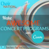 Make Awesome Concert Programs with Canva