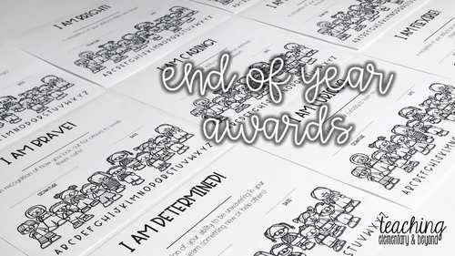 111 Superlatives & Character End of the Year Awards (Editable)